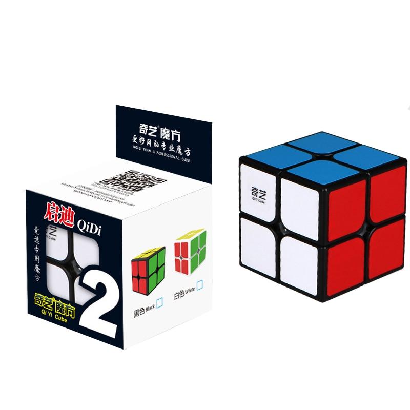 QIYI 2 Layers Cube Puzzle Toy Magic Cube 2x2x2 Profissional Match Cube Toy Children Kids Educational Gift Toy Biginner x cube 8 layers 86mm magic cube puzzle cubes educational toy special toys with gift box