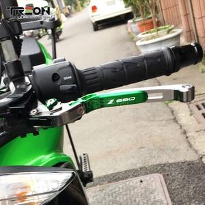 Image 2 - Cnc Aluminium Motorfiets Olding Uitschuifbare Rem Koppeling Hevels Handvat Voor Kawasaki Z650 Z 650 2017 2018 2019 Accessoires