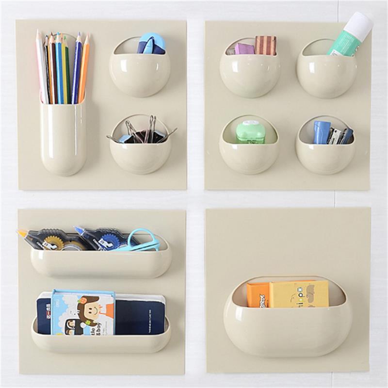 2018 NEW Multi-Purpose Wall Paste Storage Shelf Hanging Bath Kitchen Organizer Racks Seamless Paste Strong Reusable Storage Box