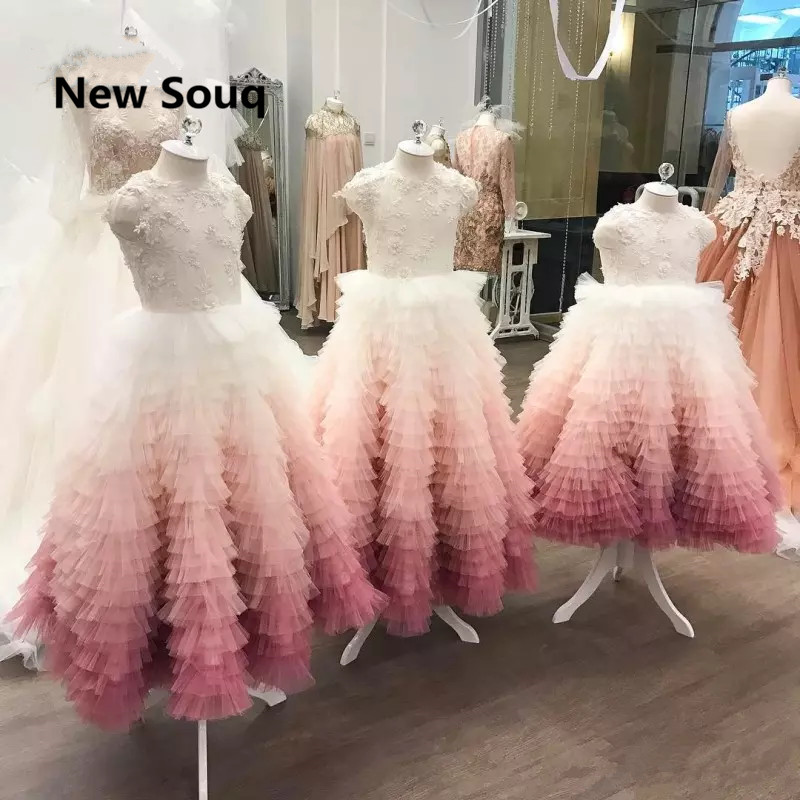 Lovely Ruched Skirt Applique   Flower     Girl     Dresses   Fancy   Girl   Birthday Party Gowns Kid Pageant   Dress   Formal Communion   Dress