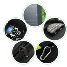 High Quality 20W Dual USB Output 5V Solar Power Bank Sunpower Solar Panel Charger Camping Charger for Mobile Phone