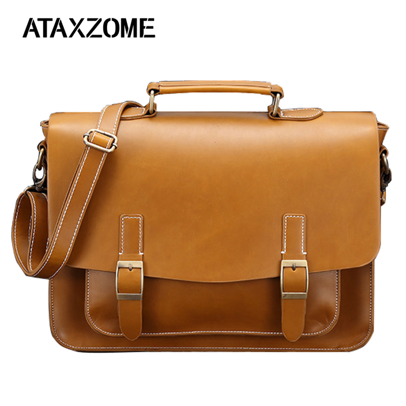 Fashion Men's Briefcase 100% Brand New And High Quality Microfiber Leather Casual Business For Men's Laptop Bag 2019 Men's Bag