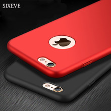 SIXEVE Luxuoso Magro Duro Phone Case Para iPhone 5 XSMax X XS XR 5S SE iPhone 6 6 S S 6 Plus iPhone 7 8 8 7 Plus Plus PC Geada Cobrir(China)