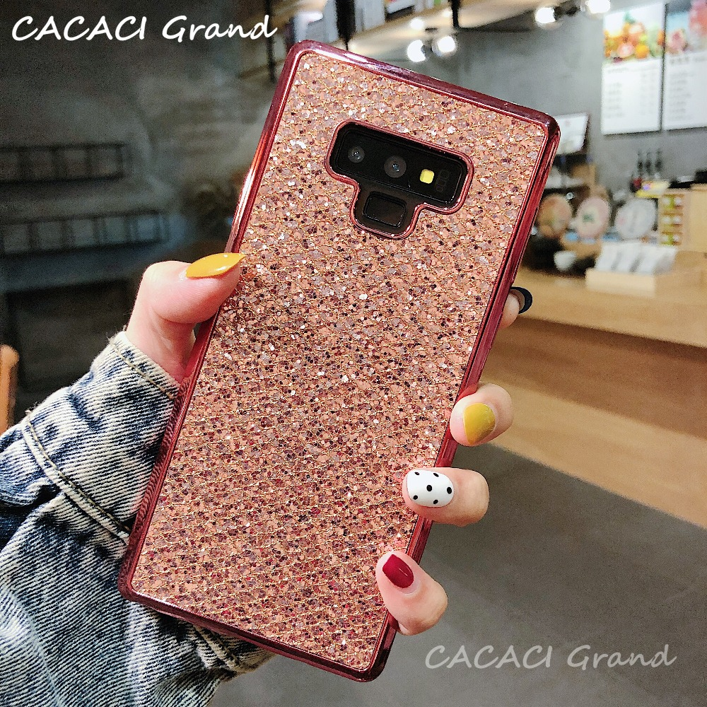 bling Phone Case For Samsung Galaxy S9 S8 Plus S4 S5 Mini S6 S7 Edge A3 A5 A7 J3 J5 J7 2016 2017 Prime Note 8 9 Soft Cover Capa