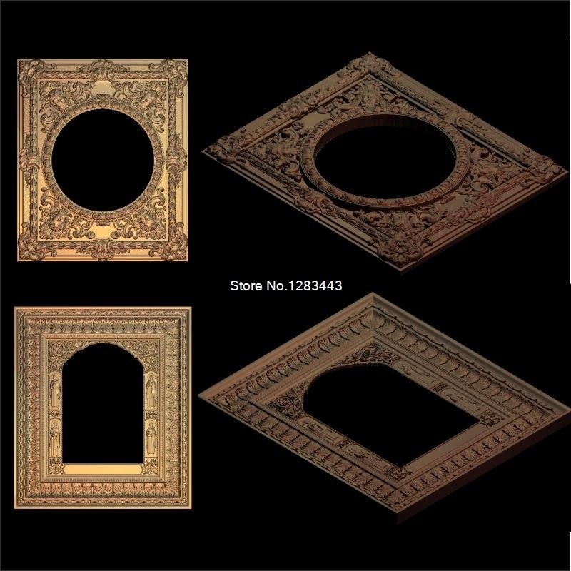 2pcs Christian_Picture frame 3d model STL relief for cnc STL format 3d Relief Model STL Router  Engraver ArtCam meandr 49 stl cnc relief artcam file format model