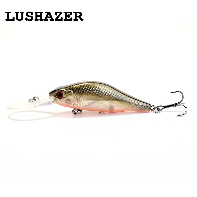 LUSHAZER Fishing lure long-tongued minnow lures 70mm 8.6g hard lure floating carp fishing baits isca artificial free shipping воблеры zip baits rigge 70 a киев купить