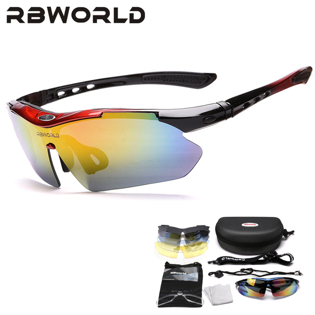 Cycle Eyewear Glasses Outdoor Bicycle Cycling Sunglasses Mountain Bike Ciclismo oculos de Sol For Men Women 5 Lenses