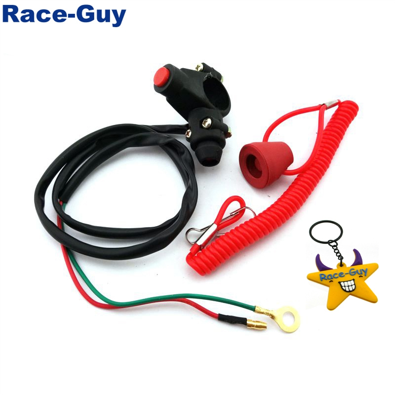 Race-Guy Safety Tether Kill Switch For Chinese 50cc 70cc 90cc 110cc 125cc ATV Quad 4 Wheeler