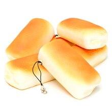Булочки jumbo мягкими ароматические squishy медленный хлеб рост подвески ремешок телефон