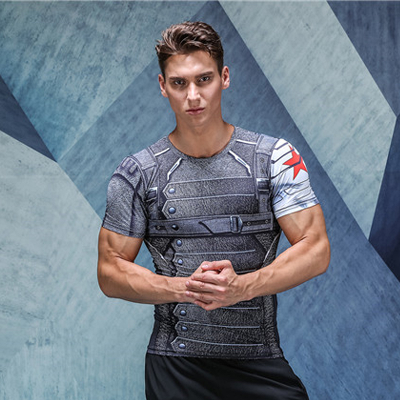T shirt For Men Fashion Men S Short Sleeve Compression Shirts font b Bodybuilding b font