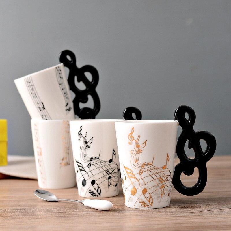 personalized piano music bone china mug 300ml ceramic coffee tea