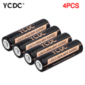 YCDC Real Energy High Quality 4 PCS/LOT 18650 Battery 3.7V Li-ion Rechargeable Battery