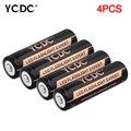 YCDC Real de Energía de Alta Calidad 4 UNIDS/LOTE 18650 Batería 3.7 V Batería Recargable de Li-ion