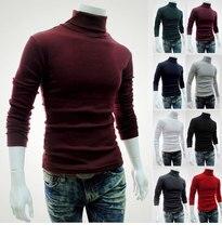 дешево!  ZOGAA 2019 зимние мужские с длинными рукавами сплошной цвет мода повседневная свитер с высокой горло Луч�