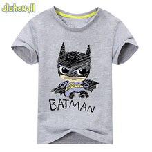 Baby Cotton Batman Print Clothes Boy Cartoon T Shirt Girl Summer T Shirt Children Short Sleeve