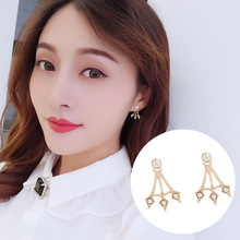 2019 New Diamond Pendant Flash Drill with Dual-purpose Earrings Female Personality Earnails Korean Minimalist
