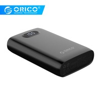 ORICO 10000mah External Battery 5V2A 5V1A Dual Output Charging Power Bank for Samsung Xiaomi Mobile Phone Tablet Power Bank     -