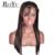 7A Brasileño de la Virgen Del Pelo Humano Pelucas Del Frente Del Cordón Pelucas de Cabello Humano para Mujer Negro Rectas Llenas Del Cordón Pelucas de Pelo Humano Con El Bebé pelo