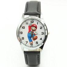 1 шт. мультфильм Супер Марио куклы дети часы Для детей Обувь для девочек Обувь для мальчиков студентов Кварцевые наручные часы