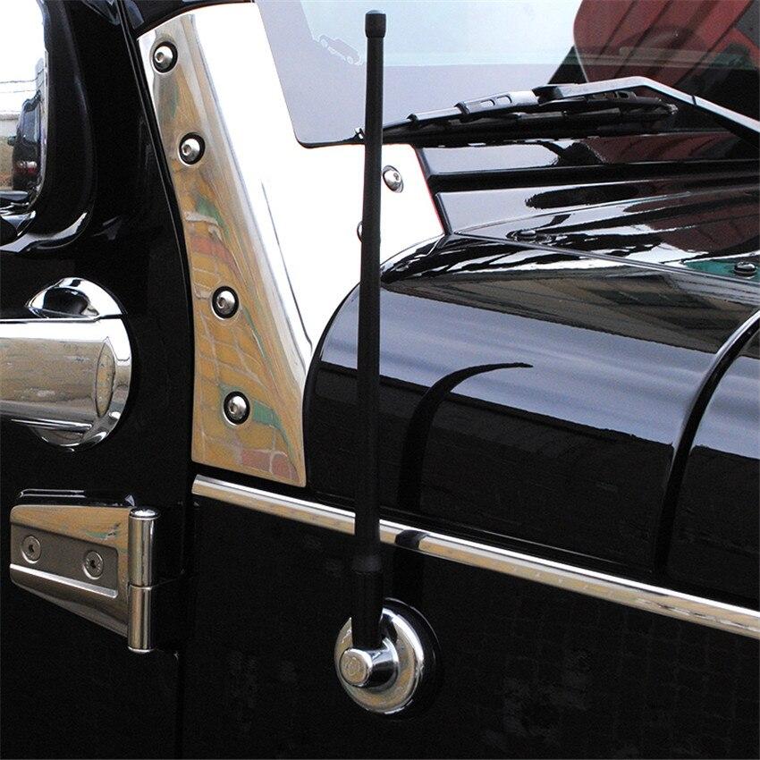 "Chrome TrueSpike Stubby Short Antenna 6/"" For 07 19 GMC Chevy Silverado Sierra HD"