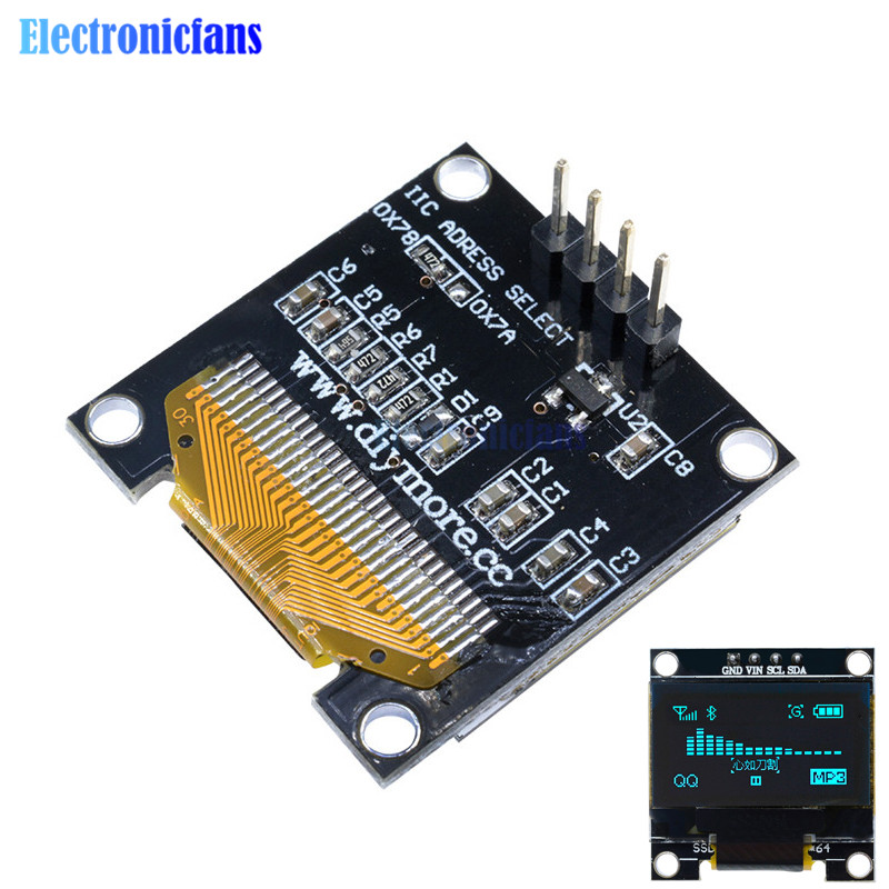 Generous 0.96'' 0.96 Inch Blue Oled Led Display Module I2c Iic Serial 128x64 128*64 Controller Driver Board Compatible For Arduino Stm32