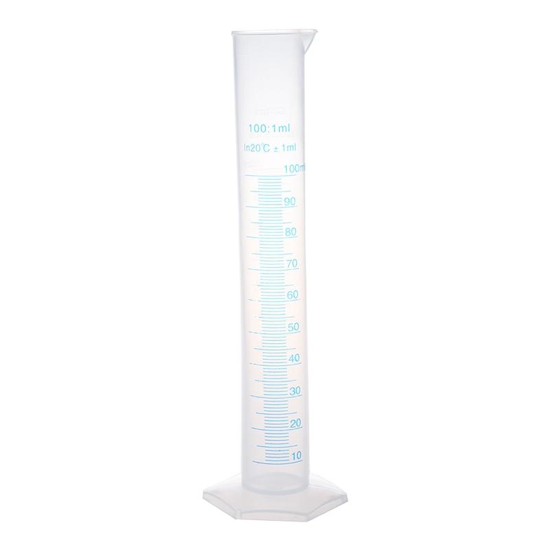 25cm High 100ml Plastic Graduated Cylinder Measuring Cup 1 milliliter