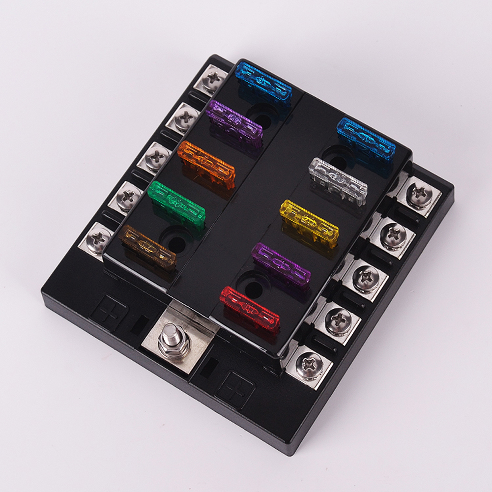 Fuse Box Holder Terminal Bar Kit 10 Way Middle Blade Car ATO ATC Van Truck  6V 12V 2A,1,3A,1,5A,7.5A,10A,15A,20A,25A,30A,35A-in Fuses from Automobiles  ...