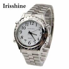 Irisshine i0650 мужские часы унисекс, говорящие на английском языке, дизайнерские часы из нержавеющей стали для слепых или ослабленных зрителей, подарок для любви