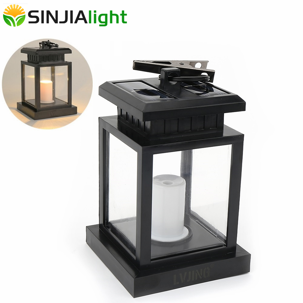 Outdoor Candle Lantern Solar Lamp Solar Powered LED Lighting Umbrella Lantern Hang Lamp with Clip LED Bulbs Path Solar Lights solar powered courtyard candle light led solar powered wall lamp umbrella lantern candle lights outdoor home garden porch indoor