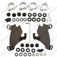 Motorcycle Gauntlet Fairing Black Trigger Lock Mount Kit For Harley Sportster XL1200 XLH XL
