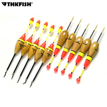 10 Pcs/Lot 5g 6g 16cm Fishing Float Vertical Buoy Paulownia Wood Fishing Floats Bobbers With Rolling Swivel Fishing Tackle Tools