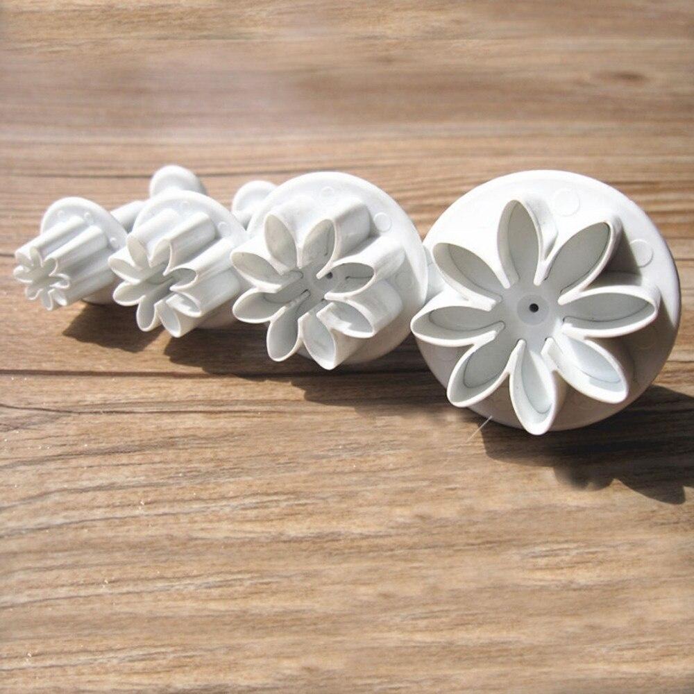 Cupcake Kitchen Decor Sets Aliexpresscom Buy 4pcs Set Cake Decor Mold Sunflower Plunger