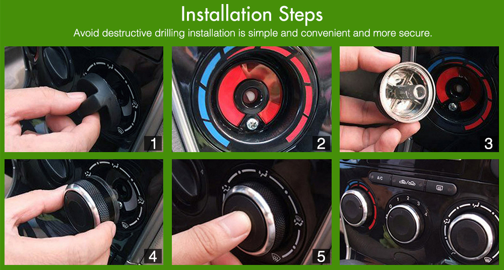 Кондиционер тепловой контроль переключатель кнопка рукоятки для peugeot 206 207(2006-2011) для citroen C2(2006-2013), авто аксессуары