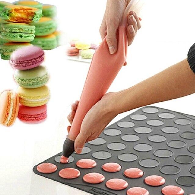 Frete Grátis Tamanho Grande Macaron Silicone Mat Macarons Mat Cozinha Ferramentas Bolo Muffin de Chocolate Ferramentas De Decoração do Bolo de Creme