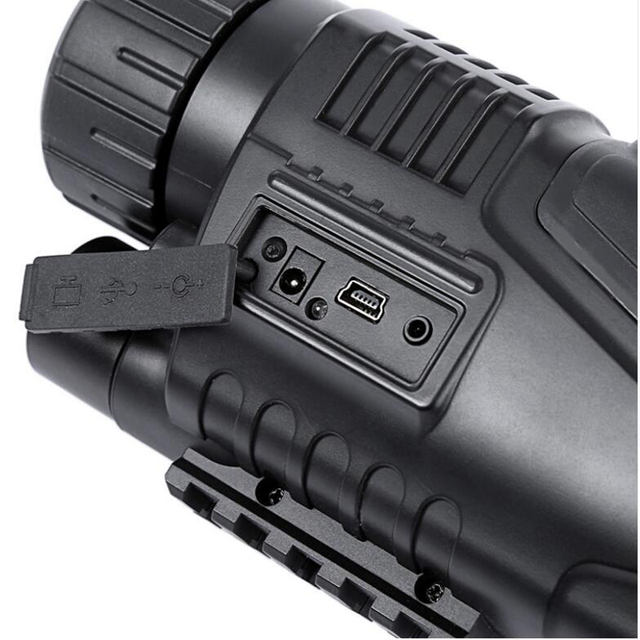 5X40 monocular night vision infrared digital scope for hunting telescope with built-in camera