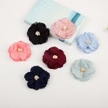 10pcs/lot patches flowers for clothing DIY sew on floral parches Embroidery flower applique wedding dresses hat bags 5.5cm