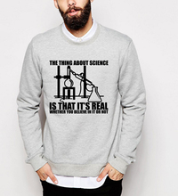 2017 chemistry experiment Real Science print hoodies autumn winter casual men sweatshirts hip hop fleece brand tracksuits homme