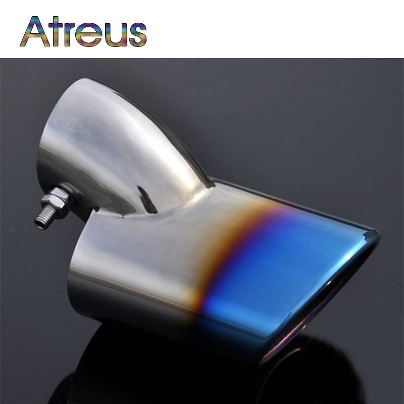 Atreu 1pcs For Chevrolet Cruze High Quality Stainless Steel Car Automobiles Exhaust Muffler Tip Pipes Exhaust System Accessories high quality car central station mat sticker for chevrolet cruze black 1pcs free shipping kl12329