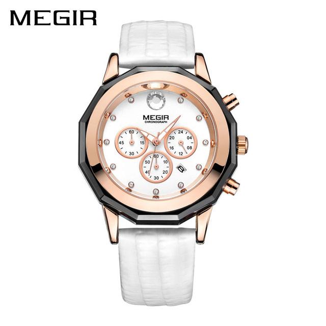 Women Fashion Luminous Leather Wrist Watch