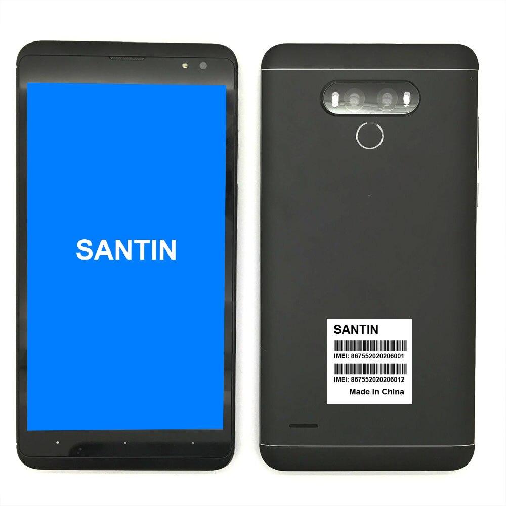 bilder für SANTIN Neue Ankunft 6,0 zoll qHD IPS Android 6.0 3000 mAh MTK6580 Quad Core 1G RAM 8G ROM 8.0MP WCDMA 3G Smartphone