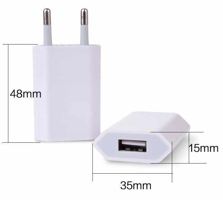 عالية الجودة الأوروبي الاتحاد الأوروبي التوصيل USB التيار المتناوب السفر الجدار شحن شاحن محول الطاقة لابل آيفون X 8 7 6 6S 5 5s 4s mi8 P10