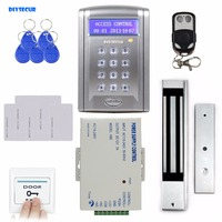DIYSECUR Remote Control 600 LBs Kit Electric Door Lock Magnetic Access Control RFID 125KHz ID Card Security System BC200