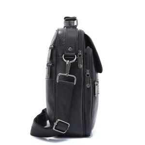 Image 4 - ZZNICK 2018 ของแท้ Cowhide หนังกระเป๋าสะพาย Messenger กระเป๋าผู้ชาย Crossbody กระเป๋ากระเป๋าถือกระเป๋าแฟชั่นผู้ชายใหม่