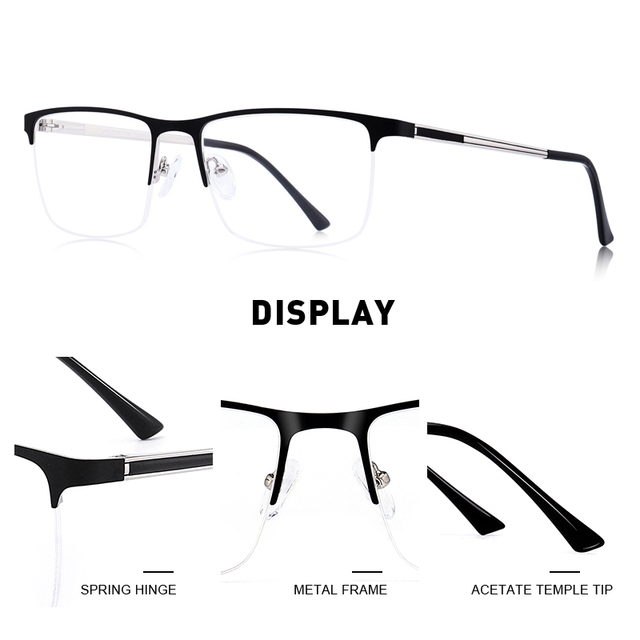 MERRYS Ultralight Square Eyeglasses  1