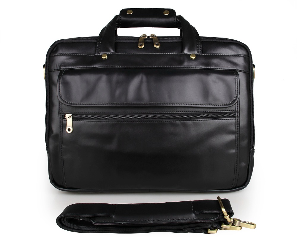 100% Genuine Cowhide Oily Leather Men's Hand Travel Briefcases Messenger Bag Crossbody Bag 7146A -1