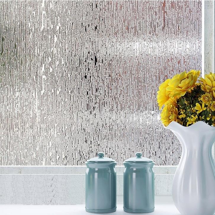 Home Decor Objective 45/60/80cm No Glue Privacy Decorative Window Film Static Cling Self-adhesive Opaque Glass Sticker Home Decor Kiss The Rain St053