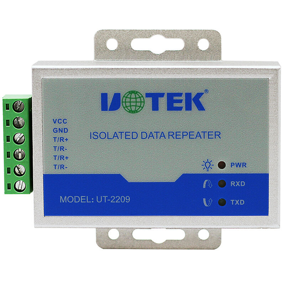 UTEK UT-2209 Industrial RS-485 Repeater with Optical Isolation rs232 to rs485 converter with optical isolation passive interface protection