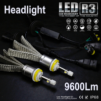 Runstreet TM Super Bright R3 9600lm 9012 HIR2 Xenon White 6000K Carr LED Headlight Conversion Kit