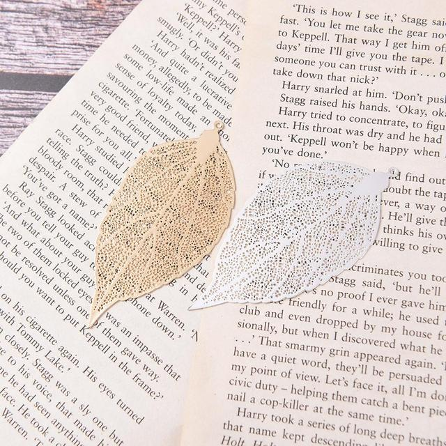 6cff49828bc35b Creative Delicate Copper Metal Bookmarks Vintage Hollow Out Leaf Dragonfly Book  Marks Office School Supplies Gift