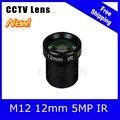 """5 Megapixel Fixa M12 1/2. 5 """"polegadas Câmera de CCTV Lente de 12mm Para 1080 P/4MP/5MP câmera IP e AHD/CVI/TVI Camera Frete Grátis"""